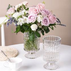 Home decore Transparent Plant Flower Hydroponic Table 装飾ガラス花瓶 白い正方形