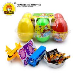 昇進の子供のキャンデーおよびおもちゃが付いているプラスチック子供の驚きの卵