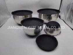 Rutschfeste mischende Filterglocke, Silikon-Unterseite mit Plastikkappe, Küche-Hilfsmittel, Bakeware Zubehör