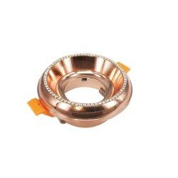 Lumière encastrée en aluminium diamant classique bâti de montage pour Spotlight Spot Downlight LED/halogène/GU10/MR16/PAR16/gu5.3/50mm C16