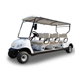 Leverancier van Guangzhou 48V hief de Elektrische Auto van de Club van de Kar van het Golf met de AchterZetel van de Tik op