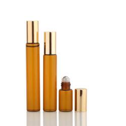 Bouteille de verre ambré tube 10ml Rouleau sur bouteille de parfum