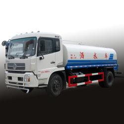Sproeier Bowser van het Water van de Vrachtwagen 10m3/12m3/15m3 van de Tanker van het Water van de Cabine 15000L van Dongfeng de Nieuwe
