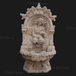 Garten-Hauptmöbel, die natürlichen Marmorwand-Innenbrunnen schnitzen