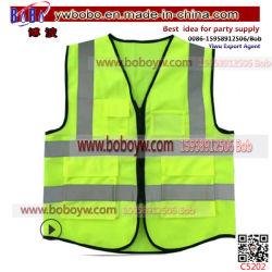 Nouvelle conception du matériel de sécurité de la sécurité routière de l'habillement tissu 100 % polyester Nigéria gilet réfléchissant de sécurité