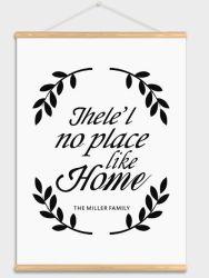 북유럽 작풍 자석 포스터 걸이 나무로 되는 가정 훈장 자체 호랑이 편지 색칠 관례 DIY 나무 골격 포스터 화포 일폭