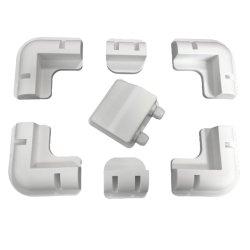 화이트 블랙 컬러 ABS 솔라 패널 마운팅 솔라 패널 키트 브래킷 플라스틱 솔라 패널 코너 마운팅 브래킷