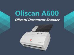 핫 600dpi 컬러 양면 인쇄 MICR OCR A4 휴대용 고속 문서 스캐너(A600)