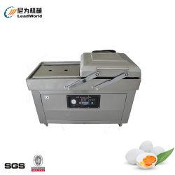 Machine van de Verpakking van het voedsel de Vacuüm met Dubbele Kamer voor de Gezouten Machines van de Verpakking van het Voedsel van de Snack van de Melk van het Ei van de Zeevruchten van het Vlees van de Vruchten en van de Groenten van het Ei van de Eend