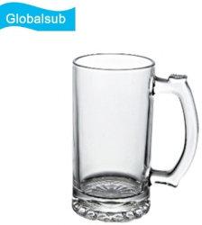 Sublimation Globalsub personnalisé tasse à vin blanc 16oz de bière en verre pour le chauffage Mug Appuyez sur Transfert