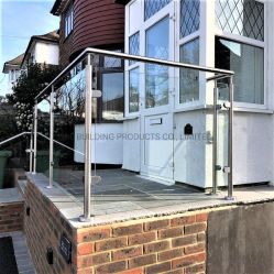 China Fornecedor Definir coluna de cerca de escada de vidro balaustrada de Aço Inoxidável Peças do Corrimão Grande grades de proteção