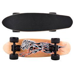 완전한 소형 함 단풍나무 목제 스케이트보드 아이들 널 소형 Retro 아이 LED를 판매하는 공장은 스케이트보드를 불이 켜진다