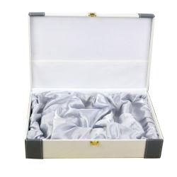 고급 고급 수작업으로 만든 로고 프린팅 가죽 스킨 케어 향수 세트 박스 포장