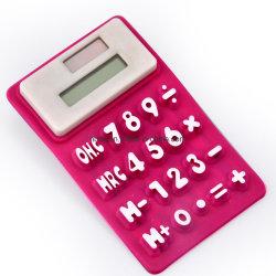 Calculator van het Silicone van 8 Cijfers van de Calculator van kinderen de Flexibele Vouwende Handige Vlakke Vierkante Gevormde Elektronische Waterdichte