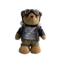 カスタム工場ハンドメイドのプラシ天のパイロットのテディー・ベアのギョロ目のおもちゃ