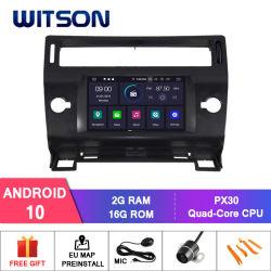 Android Quad-Core Witson 10 aluguer de DVD GPS para Citroen C4 Microfone externo incluído