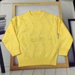 Kinder Pullover New Solid Color Pullover Rundhalsausschnitt warme Bodenbildung Pullover Mode Top Gezeiten Winterbekleidung Freizeit Stricken Bekleidung Baby Mädchen