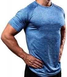 2021 новой моды Man полиэстер хлопок спандекс спорта короткие втулки для Tshirt Тренажерный зал