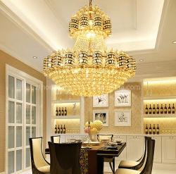 Progetto di cristallo dorato dell'interno di lusso dell'hotel di Forafrica della lampada Pendant K9 del LED 100%, ingresso, entrata Zf-Cl-053