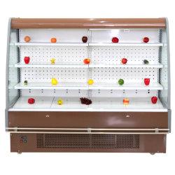 Supermercado Vertical Comercial Cortina de Ar Aberta Visor Salada montra aberta
