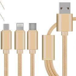 Handy 3 in 1 Mini-USB-schnellem aufladenkabel