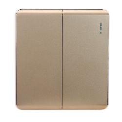 2020 Año Nuevo Tipo de interruptor de 2 vías 2 módulos de material PC de interruptor de pared eléctrica