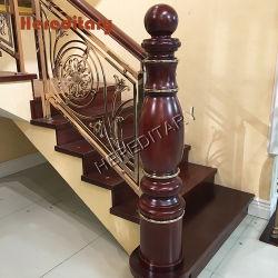 Escadas de madeira maciça de Carvalho de alumínio para Villa Pilar