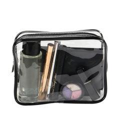 Effacer le maquillage des sacs en PVC étanche sac cosmétique avec fermeture à glissière