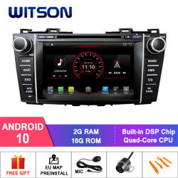 Witson Quad-Core Android 10 Alquiler de DVD GPS para Mazda 5 video HD 1080p.