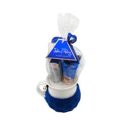 L'ODM OEM de noix de coco de marque privée à la vanille naturelle du corps de lotion de lavage de l'élégance de la bulle Femme Ensemble cadeau de bain avec tasse