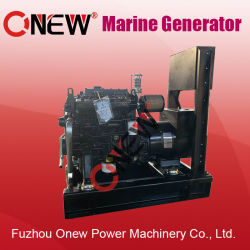 Weichai/Onan/Yuchaiエンジンを搭載する10kw 12kw 14kw 15kw 18kw 20kw 25kw 30kwは冷却された海洋のディーゼル力の電気ボートの発電機の小さい水を使用した
