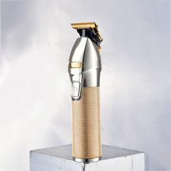 Мода металлические Professional мужчин аккумулятор для автономной работы машинки для стрижки волос