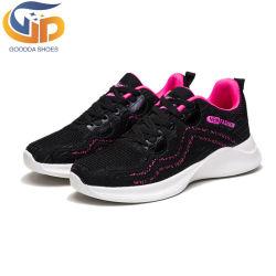 Heiße verkaufenFlyknit obere Frauen EVA bereift Sport-Schuhe