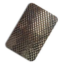 Espejo de estampado terminado PVD Placas de acero inoxidable recubierto de oro de pared decorativos
