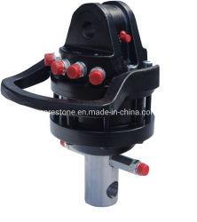 Un carrello elevatore da 360 gradi idraulico attacca il rotatore con la flangia