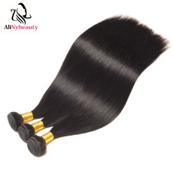 Comercio al por mayor de visón natural sin transformar las materias de la cutícula de Brasil alineados virgen 100% de la trama cabello humano.