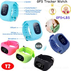 Colorido reloj sólido Tracker GPS con G-Eje Sensor-Three