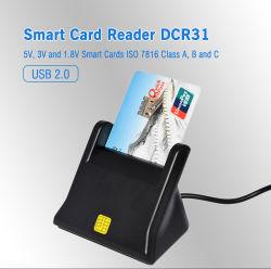 Новый ISO7816 EMV USB общего доступа к смарт-карт для ATM/IC/ID карты памяти USB (DCR31)