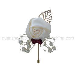 OEM の布カスタマイズ可能な人工的な花の結婚式の供給のブローチ