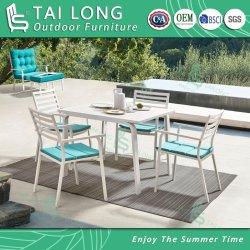 L'extérieur chinois chaise empilable Paito meubles de jardin Chaise de salle à manger avec coussin