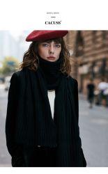 Bufanda de lana, el invierno Collar tejido engrosado, tejido de color sólido 3