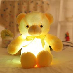 Luz LED de juguete de peluche Osito de peluche