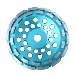 다이아몬드 두 배 줄 디스크 구체적인 가는 소결한 다이아몬드 지면 가는 컵은 다이아몬드 기계를 위한 닦는 컵 바퀴를 선회한다