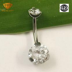 Curve Piercing di titanio solide dell'ombelico dell'acciaio inossidabile G23 dei monili d'argento di alta qualità con 2 pietre Tpn010
