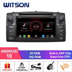 ビド F3 / トヨタ用のクアッドコア Android 10 Car DVD GPS Corolla E120 内蔵 WiFi モジュール