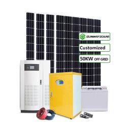 Arrêt sur la grille La grille de 5 kw 10kw 20kw 50kw 100 kw 200 kw 500 kw 300 kw Home ou commerciale du système de l'énergie solaire