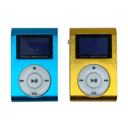 Bildschirm Förderung-Geschenk-mini beweglicher Aluminiumclip MP3-LCD mit Einbauschlitz-MP3-Player für das Laufen
