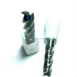 HRC55 3 Flöten Vollhartmetall-Flachfräser für Aluminium Bearbeitung