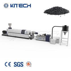 Resíduos de HDPE/PP/ABS/PS garrafa recipiente de tambor pode do tubo de reciclagem de rejeitos plásticos granular de extrusão de Pelotização