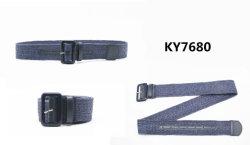 숙녀를 위한 Belt Ky7680 수지 버클을%s 가진 형식 땋는 PP에 의하여 길쌈되는 탄력 있는 벨트